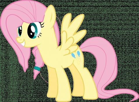 Cutie Mark Swaps - Fluttershy with Pinkie Pie's by JonathanMDful