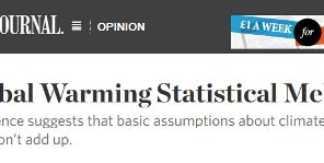 Impactante artículo de Curry en el Wall Street Journal: El colapso estadístico del calentamiento global