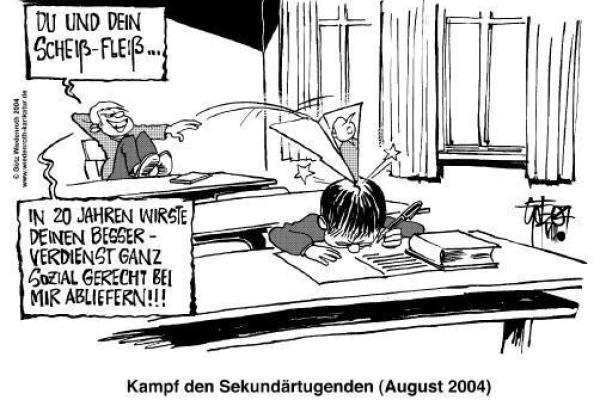 (Caricatura: Götz Wiedenroth) Justicia Social