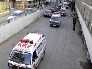 Ambulancia después del bombardeo