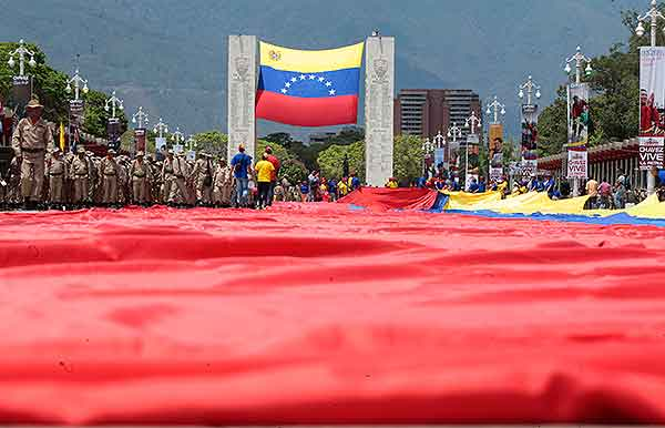 bandera más grande de Venezuela