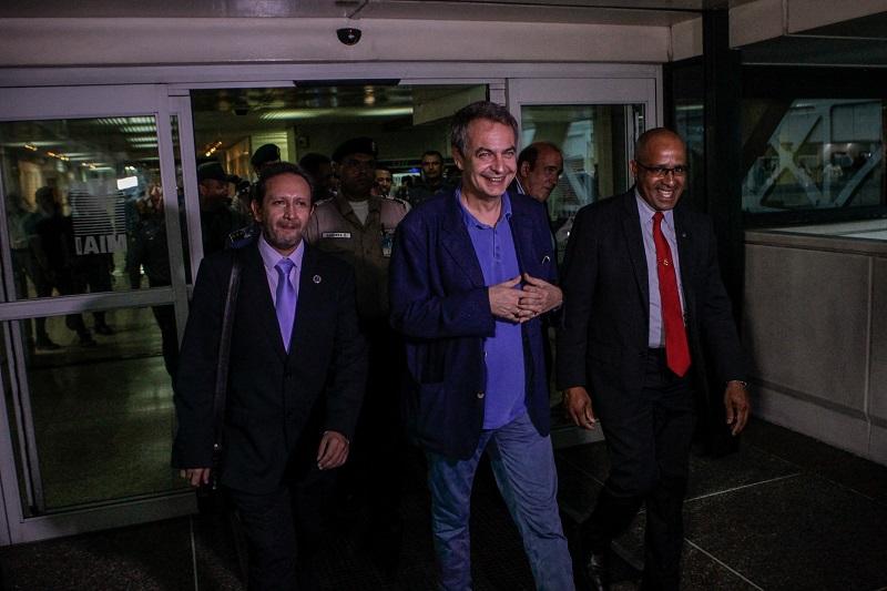 Zpatero llega a Venezuela