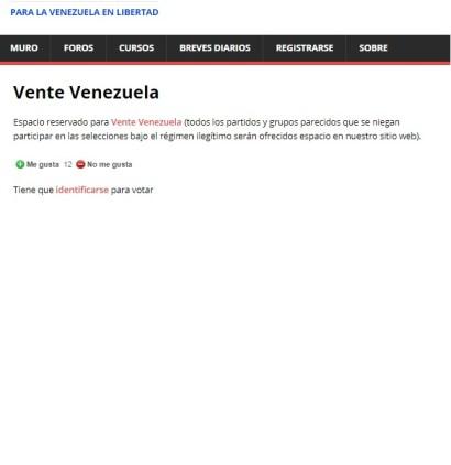 vente venezuela plataforma web fuerza venezuela