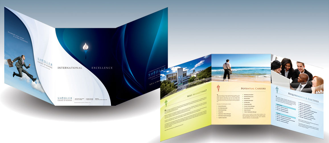 20  Simple Yet Beautiful Brochure Design Inspiration   Templates Corporate tri fold brochure design Ideas