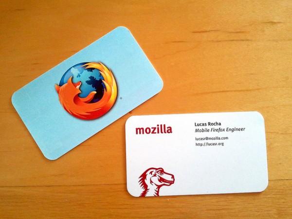 Mozilla cartão Imperdível 20 Cartões de visita de pessoas famosas