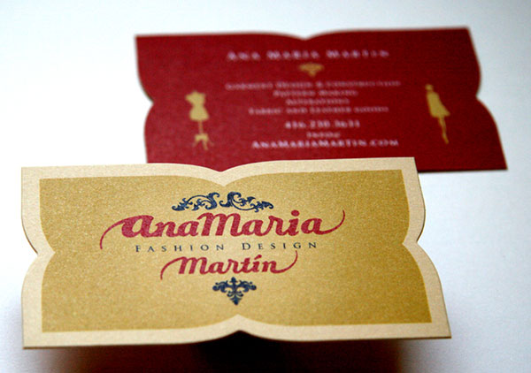 AnaMariaMartin Fashion business card design 30+ Beautiful Examples of Modern Business Card Designs for Inspiration