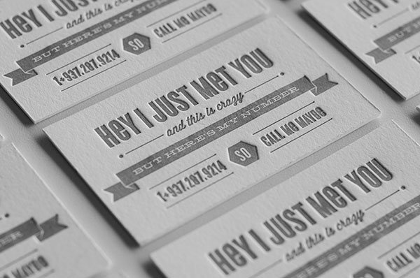 Call me Maybe Business card design 30+ Beautiful Examples of Modern Business Card Designs for Inspiration