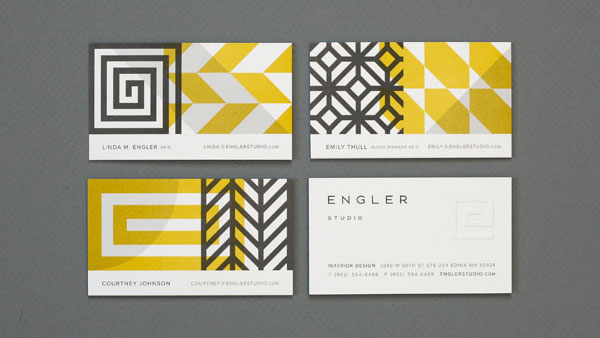 Engler Studio business card design 30+ Beautiful Examples of Modern Business Card Designs for Inspiration