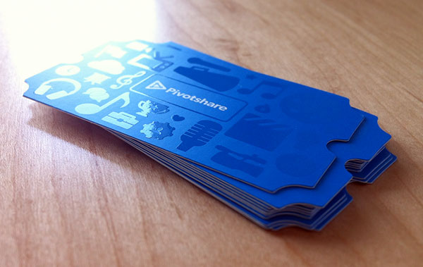 Ticket style UV Coated Business card example 30+ Beautiful Examples of Modern Business Card Designs for Inspiration