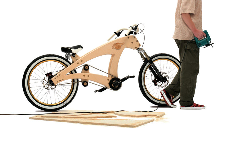 Lowrider Wooden Beach Cruiser Bicycle by Jurgen Kuipers :: via designboom