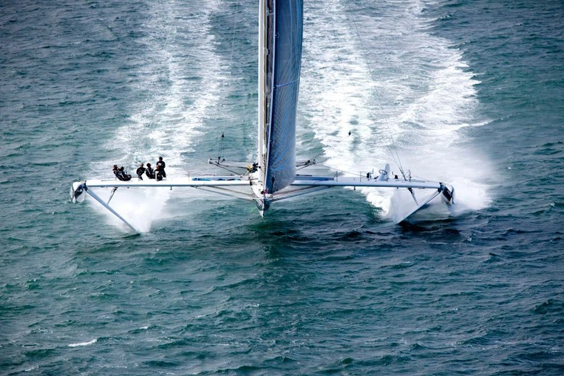 hydroptere sailboat to set transpacific fastest speed record
