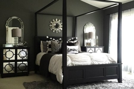 feel dark with these black d%c3%a9cor ideas to your master bedroom4