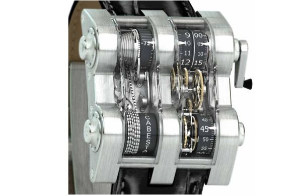 Cabestan Winch Tourbillion Vertical Wristwatch