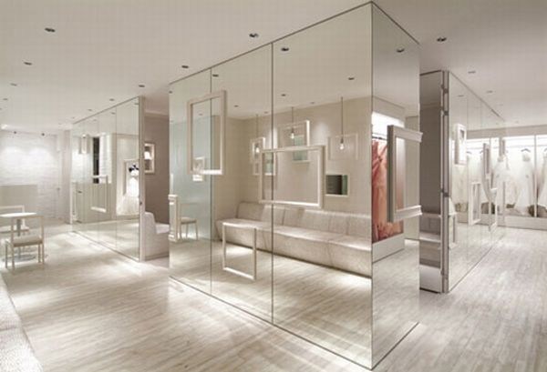 Contemporary interior design Bridal Magic Store