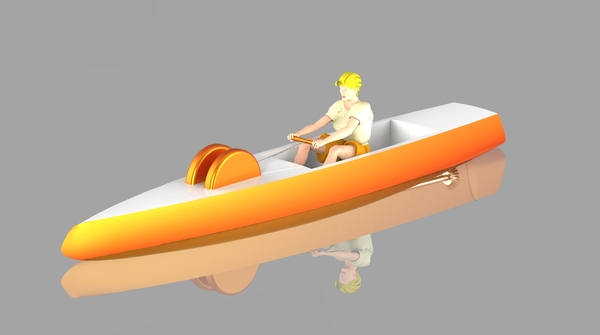 DICYCLE: Human powered boat
