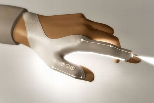 Fiber optic light glove