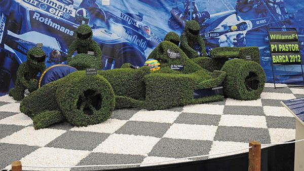 Green Formula 1 Williams race car