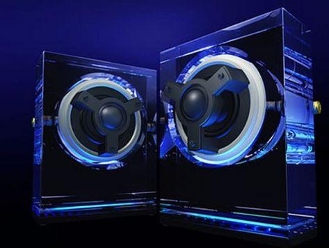 Kenwood's Glass Speakers