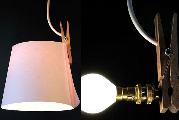 Paper moon lamp