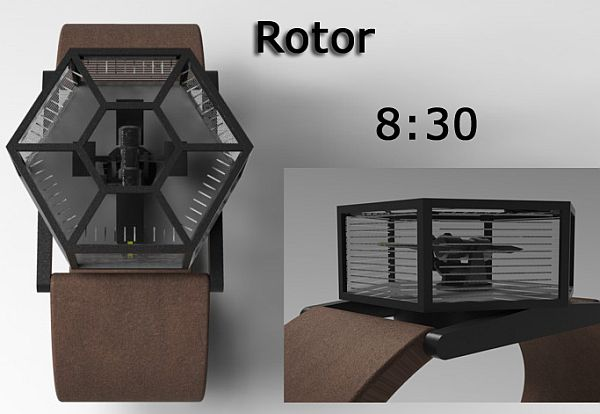 Rotor Analog Watch