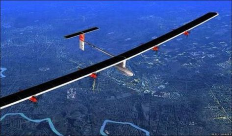 Solar-powered airplane