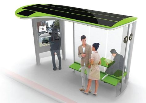 solar powered bus stop designs