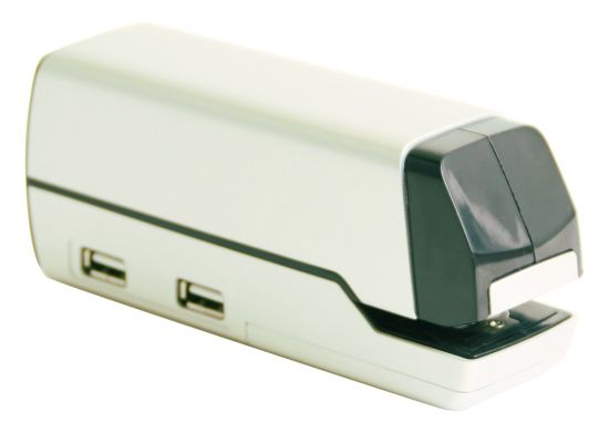 thanko stapler usb hub 04