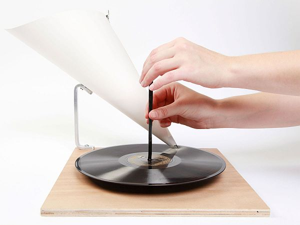 Hand Powered Record Player