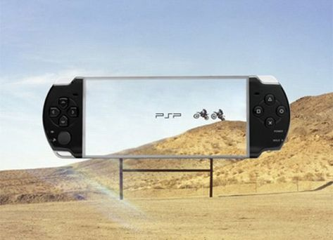 Transparent Billboards Promoting Sony PSP