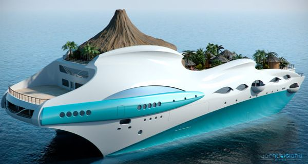 Tropical Island Paradise Superyacht