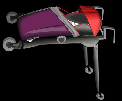 virgin atlantic baby cot and push chair  02