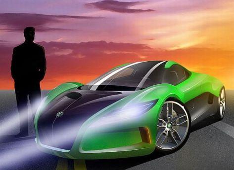 Volkswagen solar powered concept supercar
