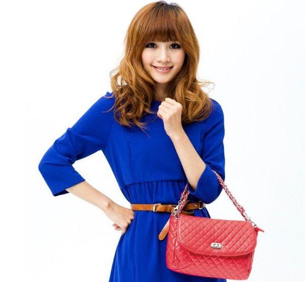 Colorful-Lady-s-Handbag-PU-Leather-Diamond-Grid-Women-Bag-Ladies-Shoulder-Handbag-Free-Shipping