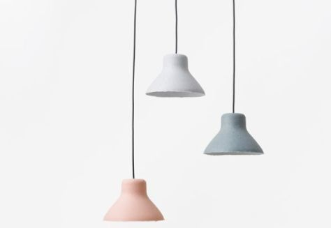 Nendo's 3D moulded light shades