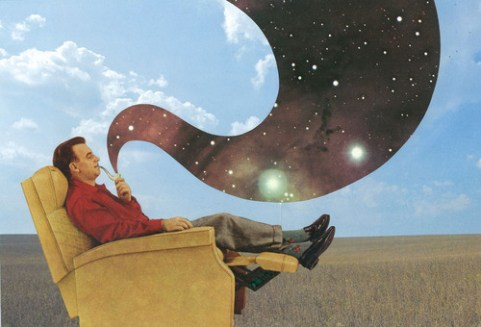 sci-fi-cosmic-art-hand-made-collage-joe-webb-artist-uk-pipe-smoke-it
