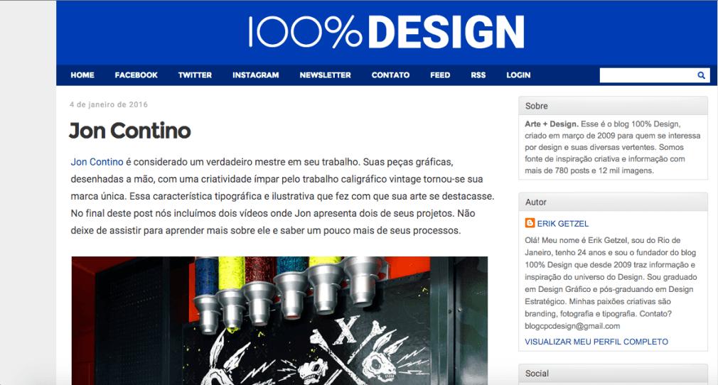 Home do blog 100% Design