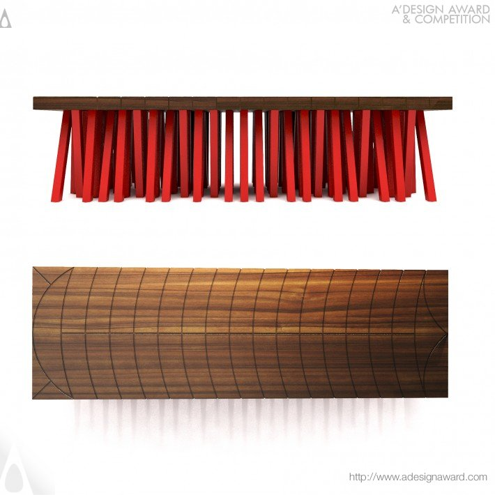 Destaque da madeira usada no projeto do Banco Centopéia.