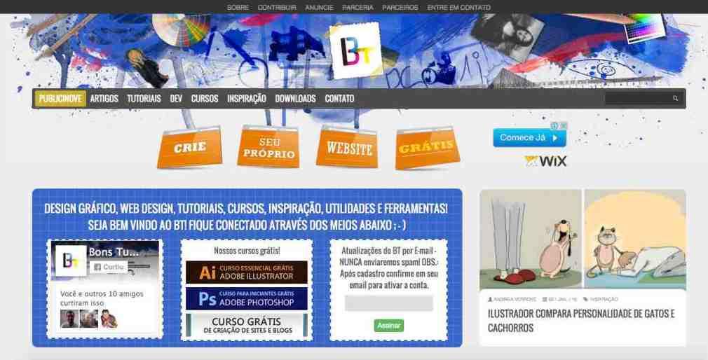 Home do blog Bons Tutoriais