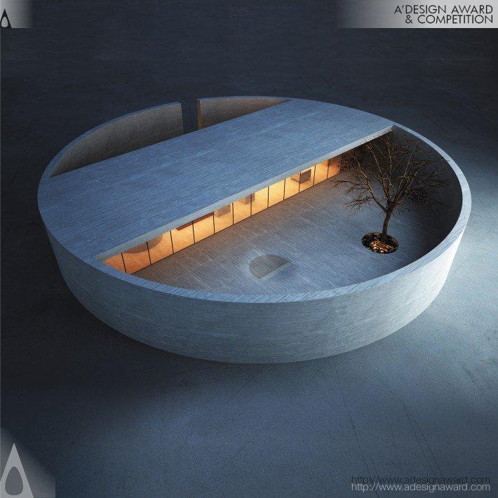 Casa em formato de ringue, arquitetura de Marwan Zigheib