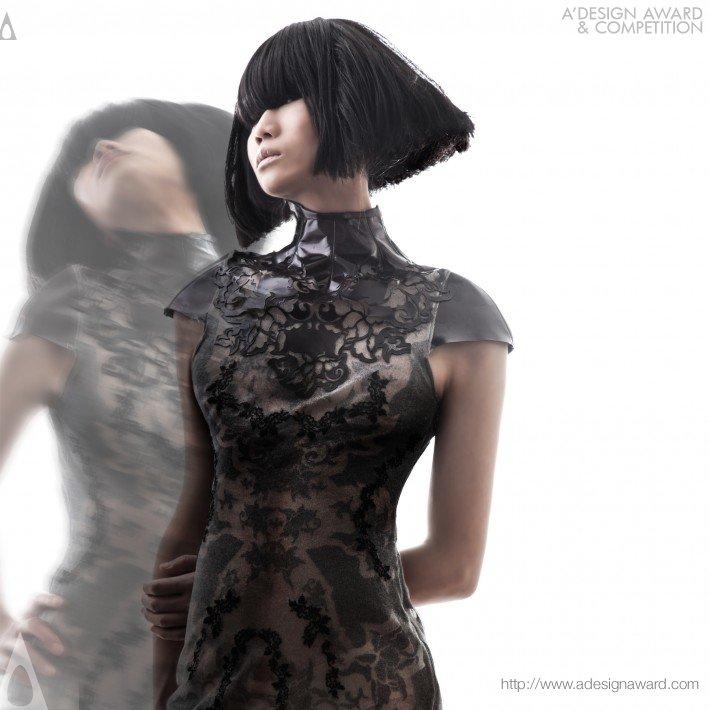 Vestido desenhado por Yau Kai So