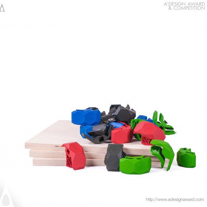 PlayWood Conector modular, por Stefano Guerrieri