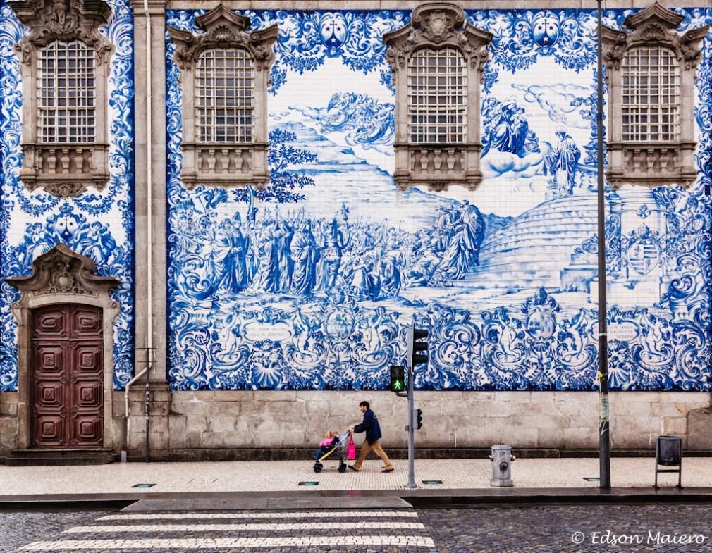Painel de azulejos da Igreja do Carmo. foto: Edson Maiero