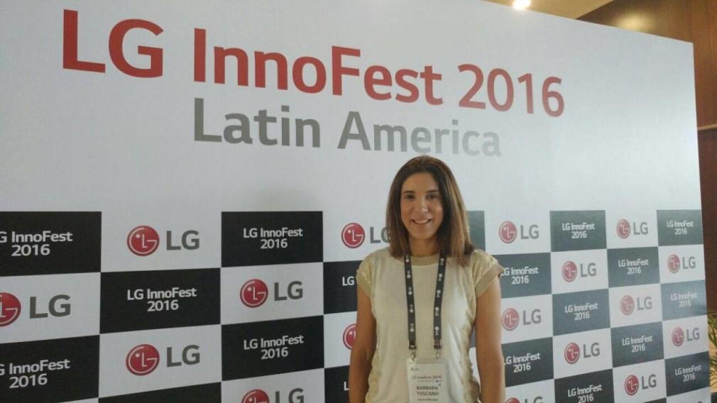 Barbara Toscano, Gerente geral de marketing participa da Innofest, feira sobre a linha branca e ar condicionado da LG