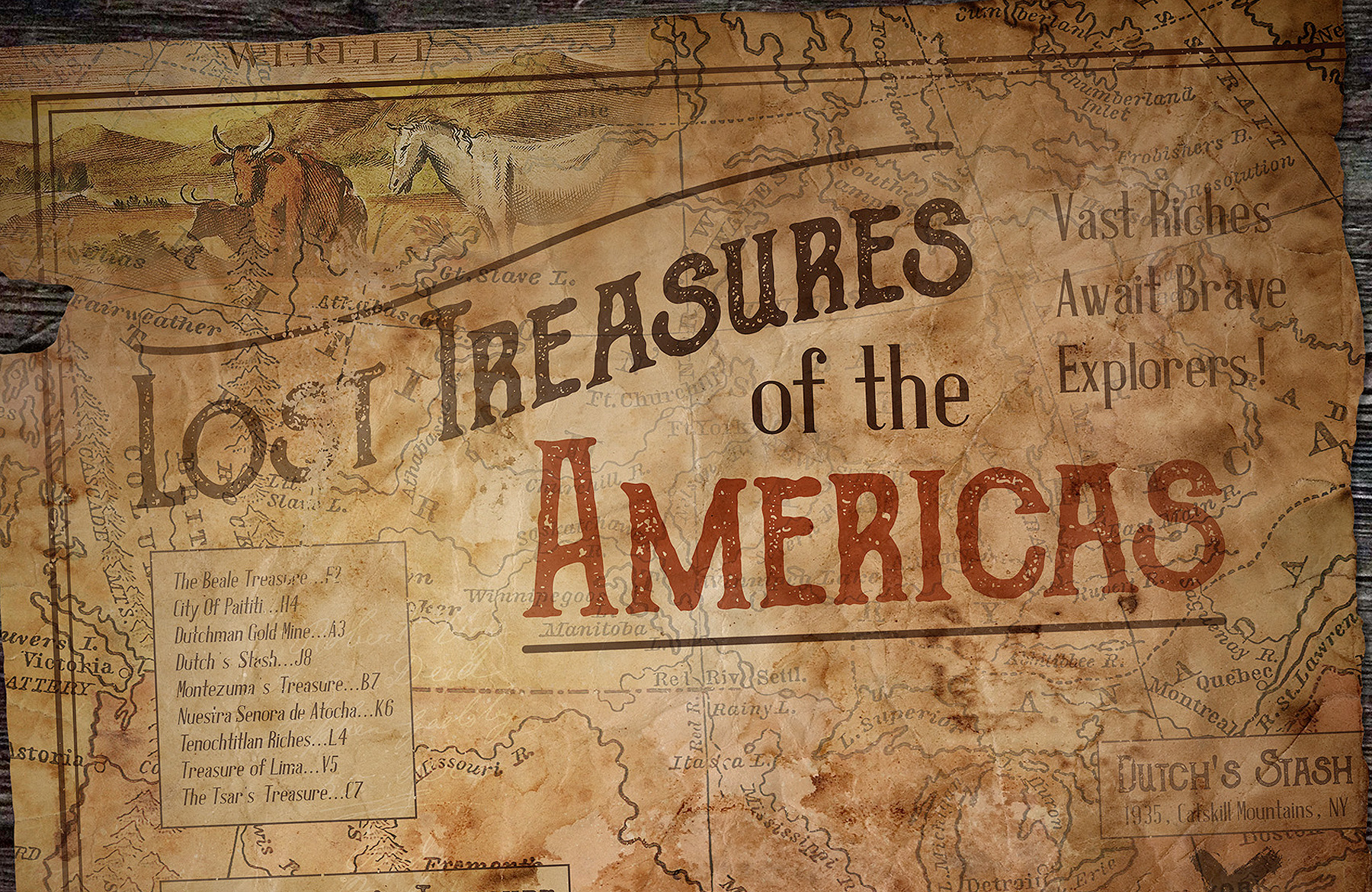 Create A Vintage Treasure Map in Photoshop   Design Cuts Create A Vintage Treasure Map in Photoshop