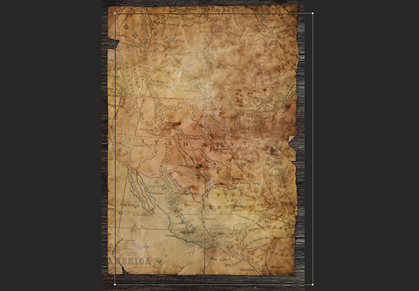 Create A Vintage Treasure Map in Photoshop   Design Cuts Treasure Map  In the Layers palette  drag the Thick Border layer down to  the Create a New Layer icon to duplicate it