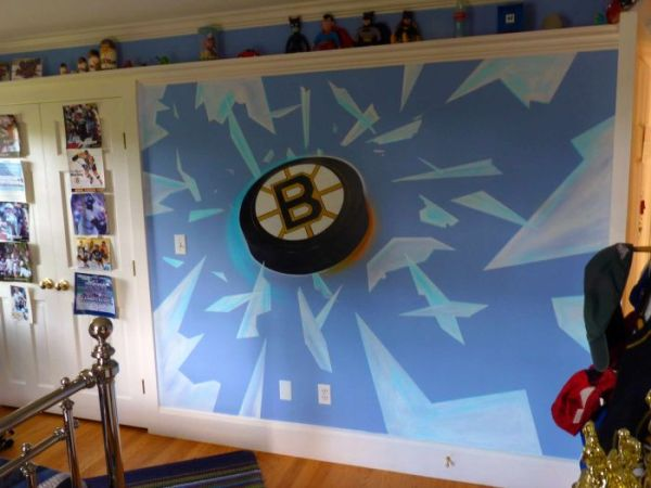Hockey room ideas design dazzle Bruins room decor