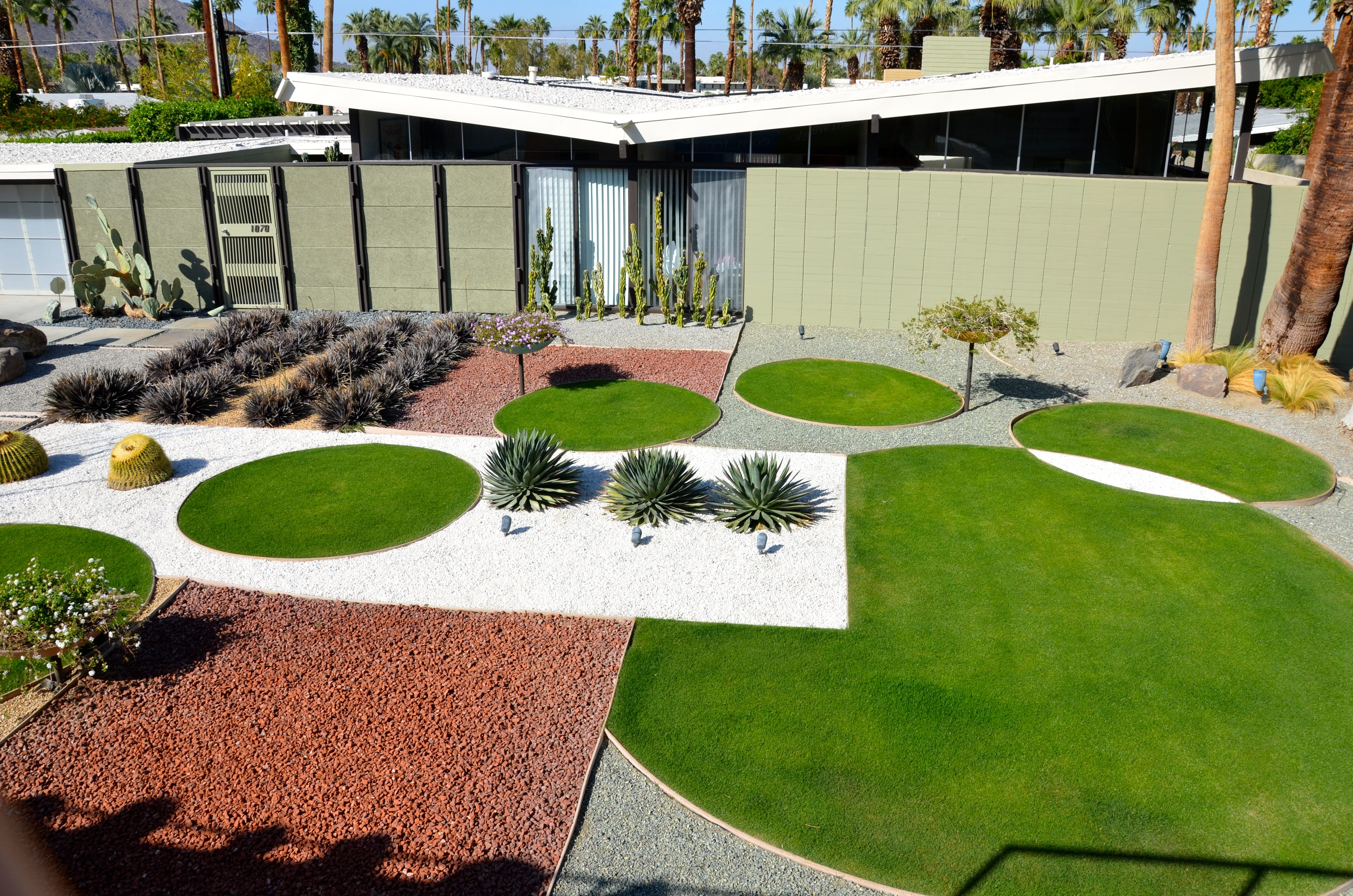 Mid Century Modern Homes Landscaping - Landscaping we also drove through early mid century modern