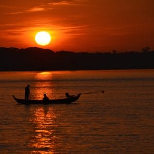 Sunrises and sunsets on the Irrawaddy River