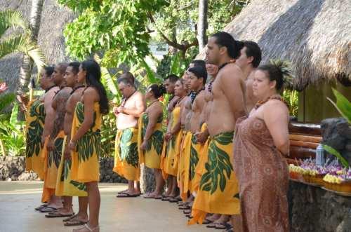 Scenes from Luau in Hawaii