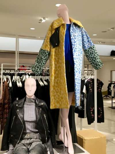 Coat on display at Nordstroms